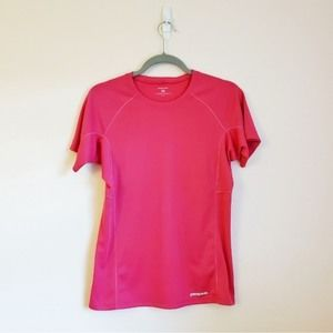 Patagonia Pink Athletic Workout Shirt Size Medium